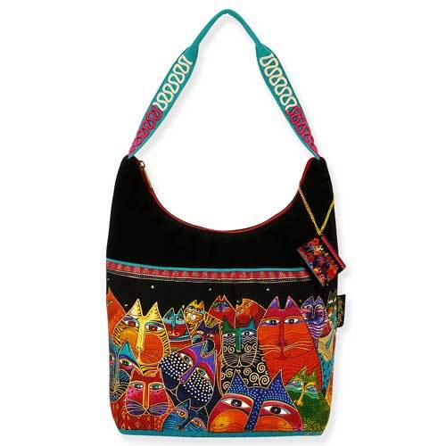 Laurel Burch Fantasticats Medium Scoop Tote Bag LB5223 | Ann's By Design