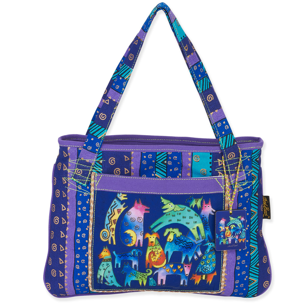 Laurel Burch Mythical Dogs Medium Tote Bag LB5391 | Ann's By Design