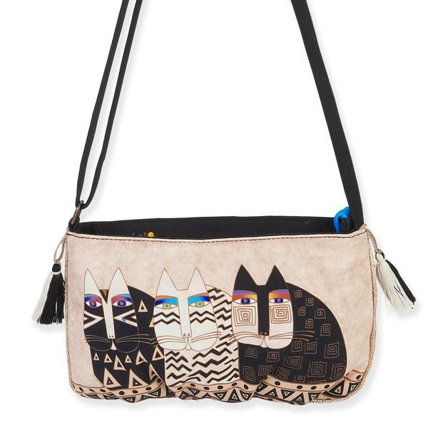 Laurel Burch Wild Cats Feline Crossbody Bag LB5552D | Ann's By Design