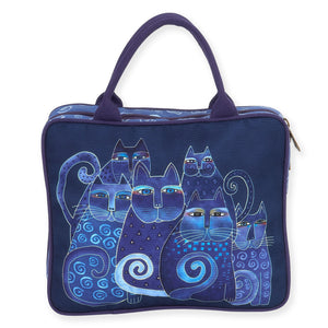 Laurel Burch Indigo Cats Cosmetic Travel Tote Bag LB5900D