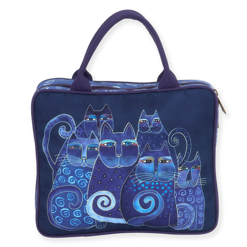 Laurel Burch Indigo Cats Cosmetic Travel Tote Bag LB5900D | Ann's By Design