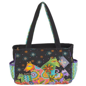 Laurel Burch Canine Clan Medium Tote Bag LB6052