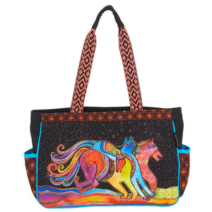 Laurel Burch Caballos De Colores Medium Tote Bag LB6091
