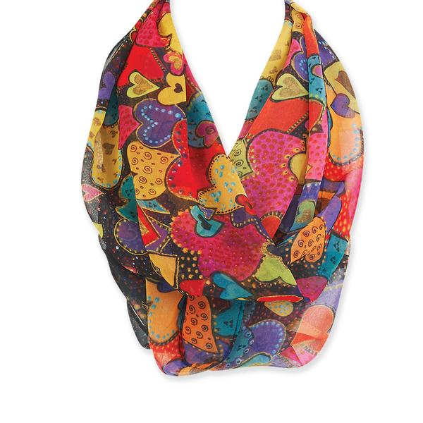 Laurel Burch Dancing Hearts Infinity Scarf LBI212 | Ann's By Design