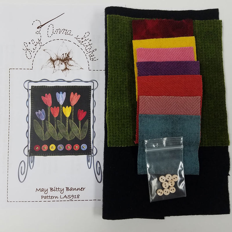 May Bitty Banner Tulips Wool Kit | Ann's By Design