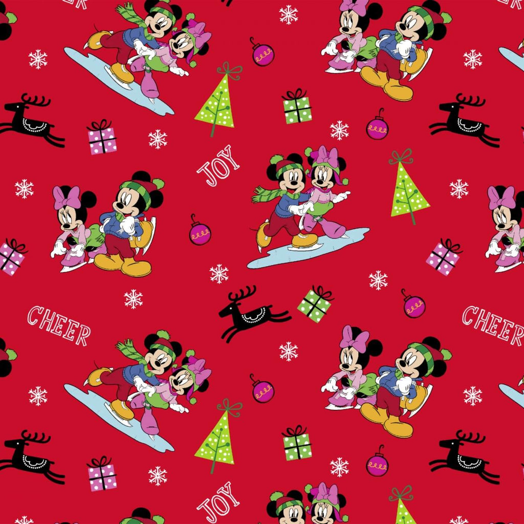 Disney Mickey & Friends Christmas Home For the Holidays Red Fabric Yardage 64175D650715 | Ann's By Design