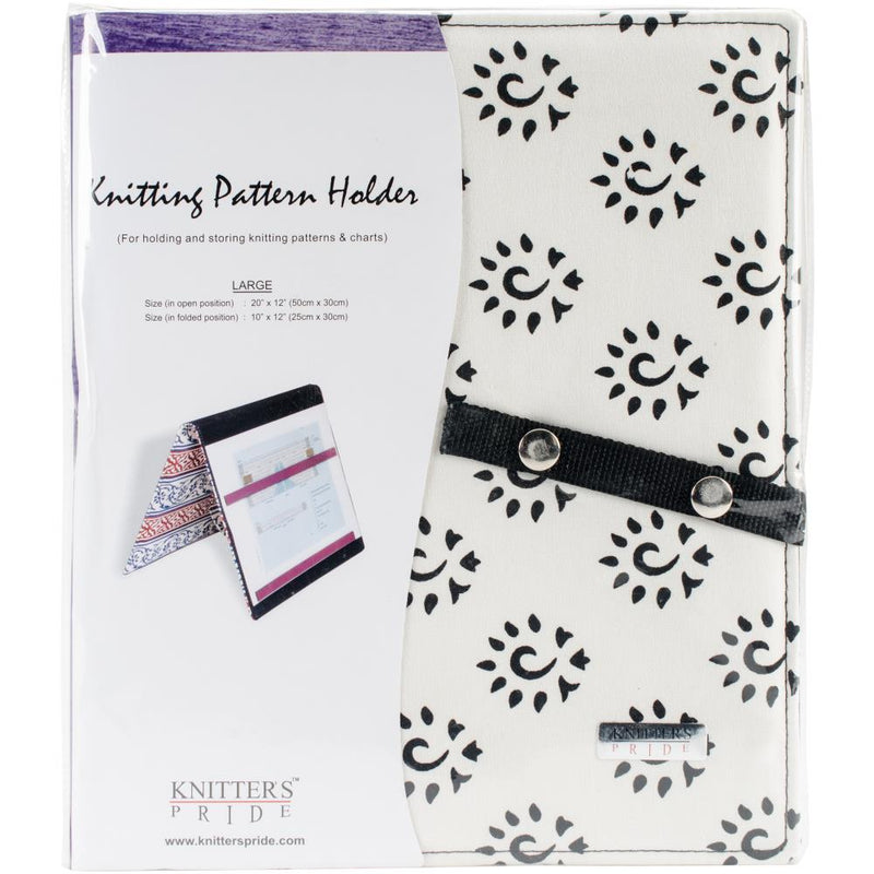 "Fold-Up Knitting or Crochet Pattern Holder - Large (10"" x 12"") 