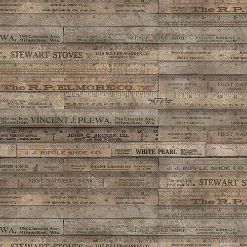 Eclectic Elements Foundations Rulers Brown Fabric Yardage PWTH017.BROWN | Ann's By Design