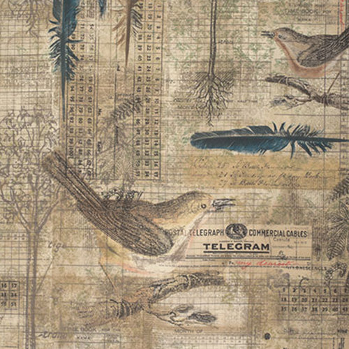 Eclectic Elements Wallflower Aviary Multi Fabric Yardage PWTH034.8MULT | Ann's By Design