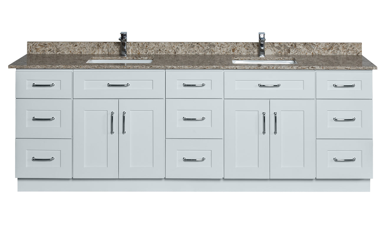 double sink 3 drawers