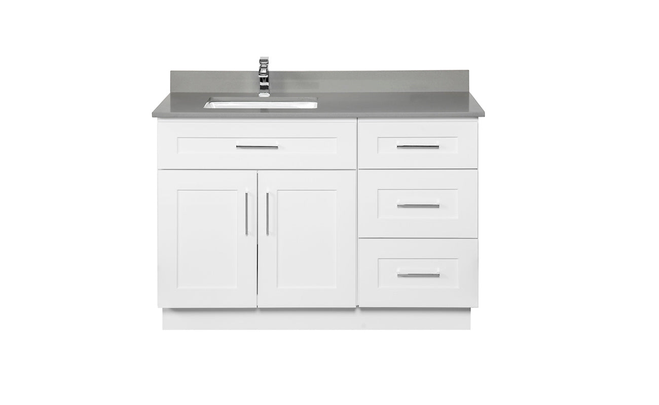 Offset sink bathroom cabinet