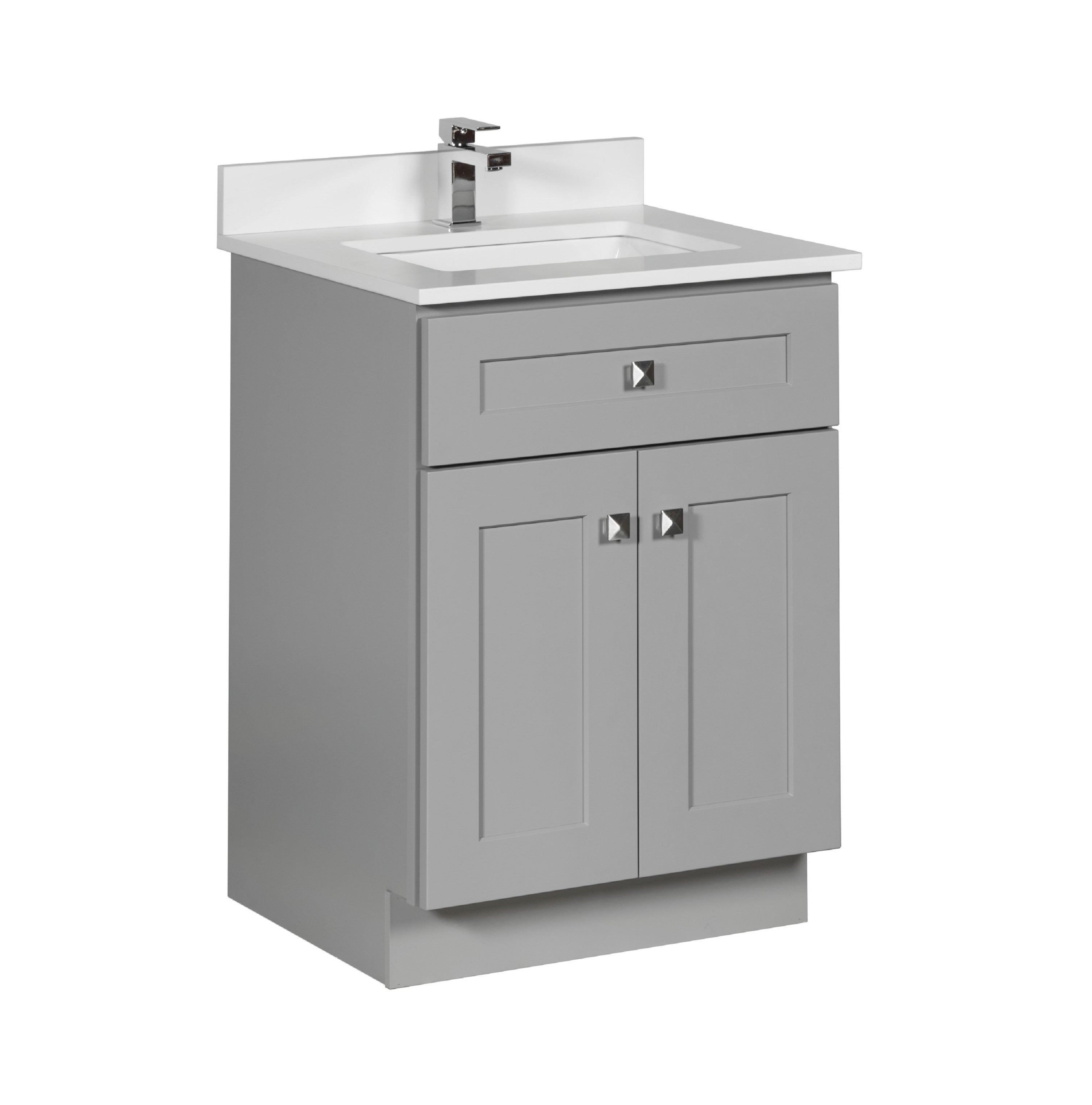 24 Bathroom Vanity In Grey Broadway Vanities
