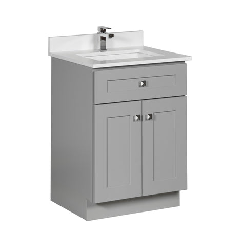 24 inch Bathroom Cabinet in Grey Shaker
