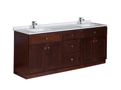 78 inch Bathroom Cabinet in Java