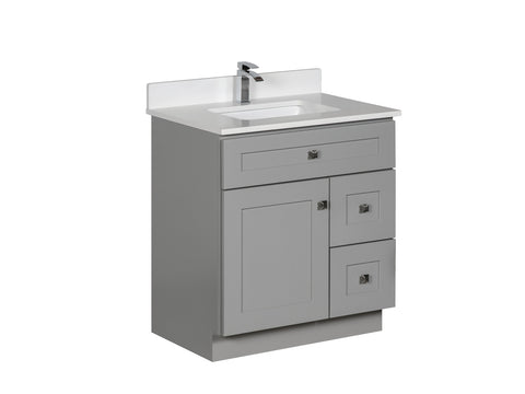 30 inch Grey Bathroom Vanity