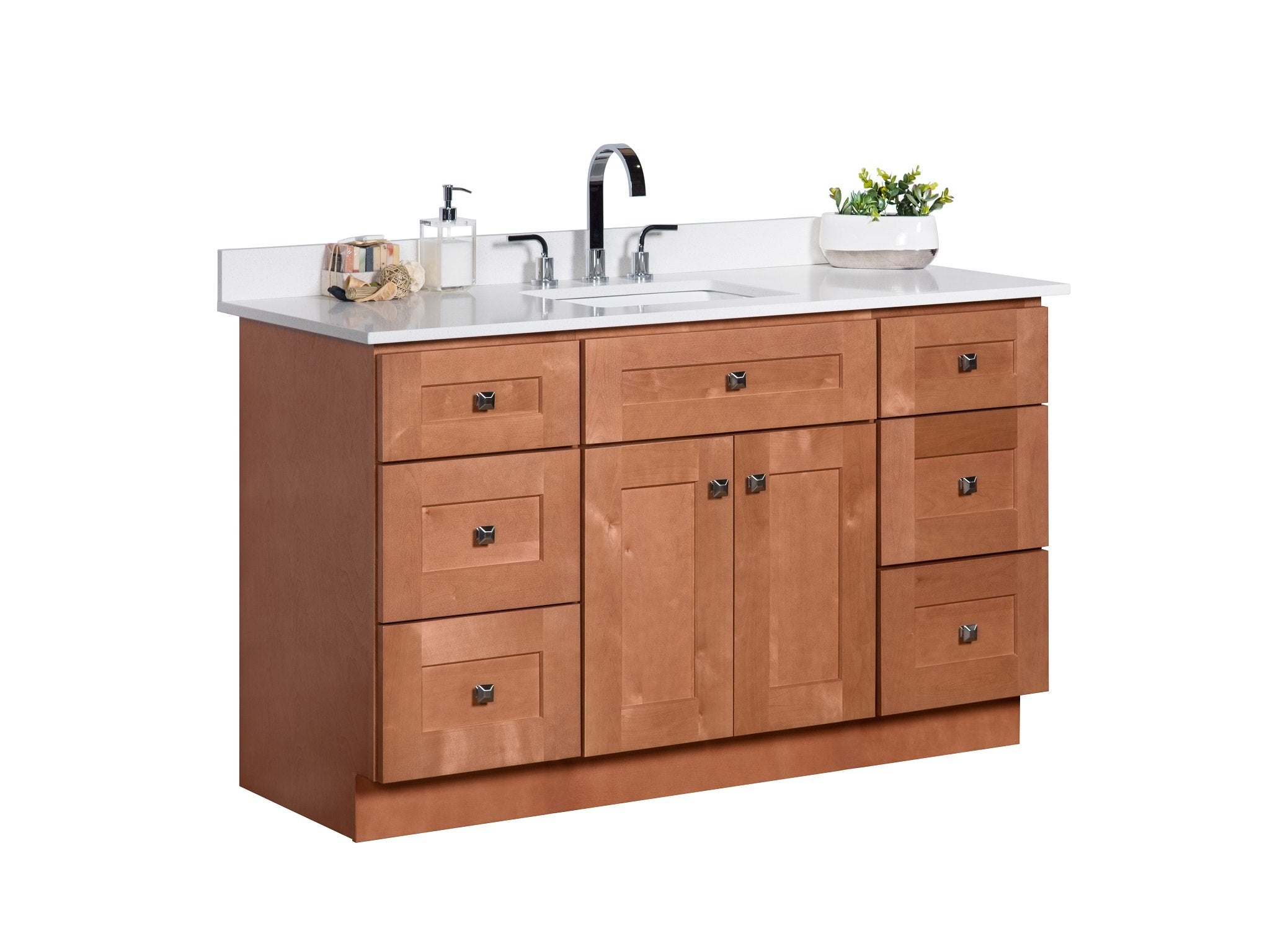 54 single sink maple wood bathroom vanity in almond broadway rh broadway vanities myshopify com maple bathroom vanities unfinished maple bathroom vanity