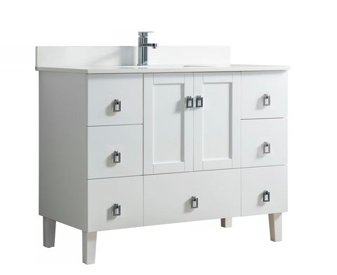 45-inch Bathroom Cabinet with Top