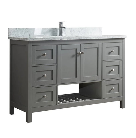 "54"" Grey Bathroom Cabinet with Countertop"