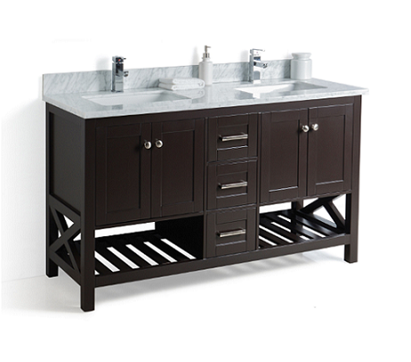 Taiya Bathroom Vanity in Espresso - 60 Inch - Double Sink – Broadway on fireplace 60 inches, bathroom lighting 60 inches, double sink bathroom vanity combo,