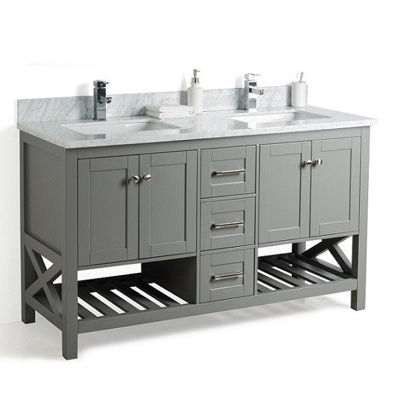 59 Taiya Bathroom Vanity In Grey Rock Double Sink Broadway