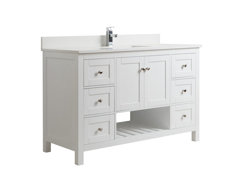 "54"" Taiya Bathroom Vanity in Toga White"