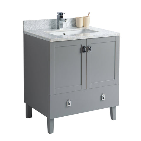 Bathroom Vanity in Grey Rock with Countertop
