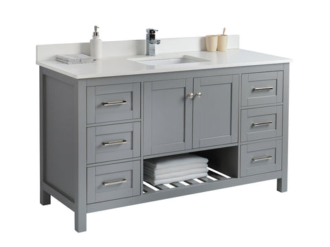 60 Bathroom Vanity in Grey