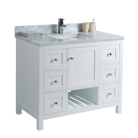 42 inch Bathroom Vanity Cabinet in White