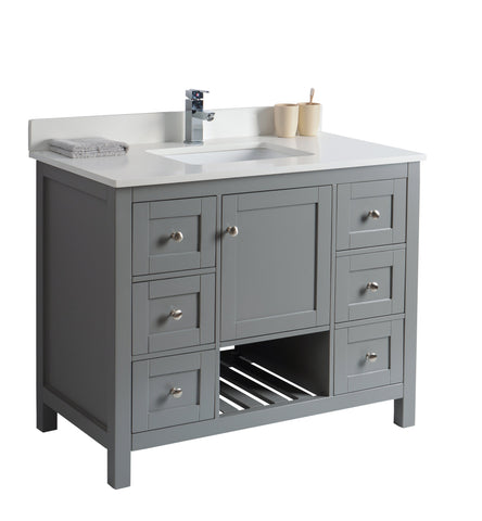 "42"" Taiya Bathroom Vanity in Grey Rock"