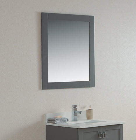 "27"" Grey Rock Bathroom Mirror"