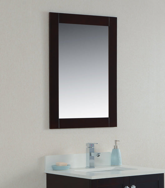 22 Stained Espresso Bathroom Mirror Broadway Vanities