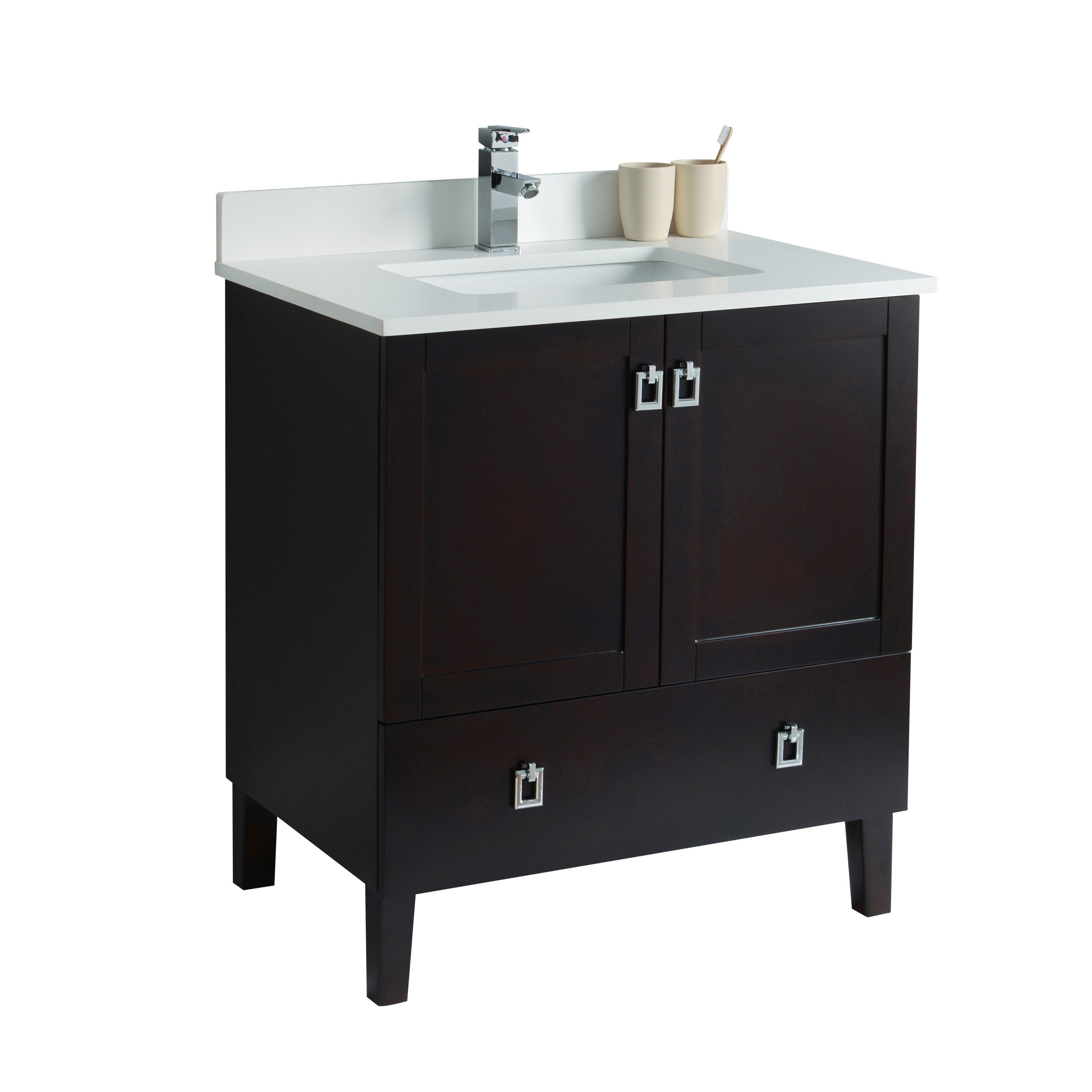 30 inch bathroom cabinet with doors and drawer