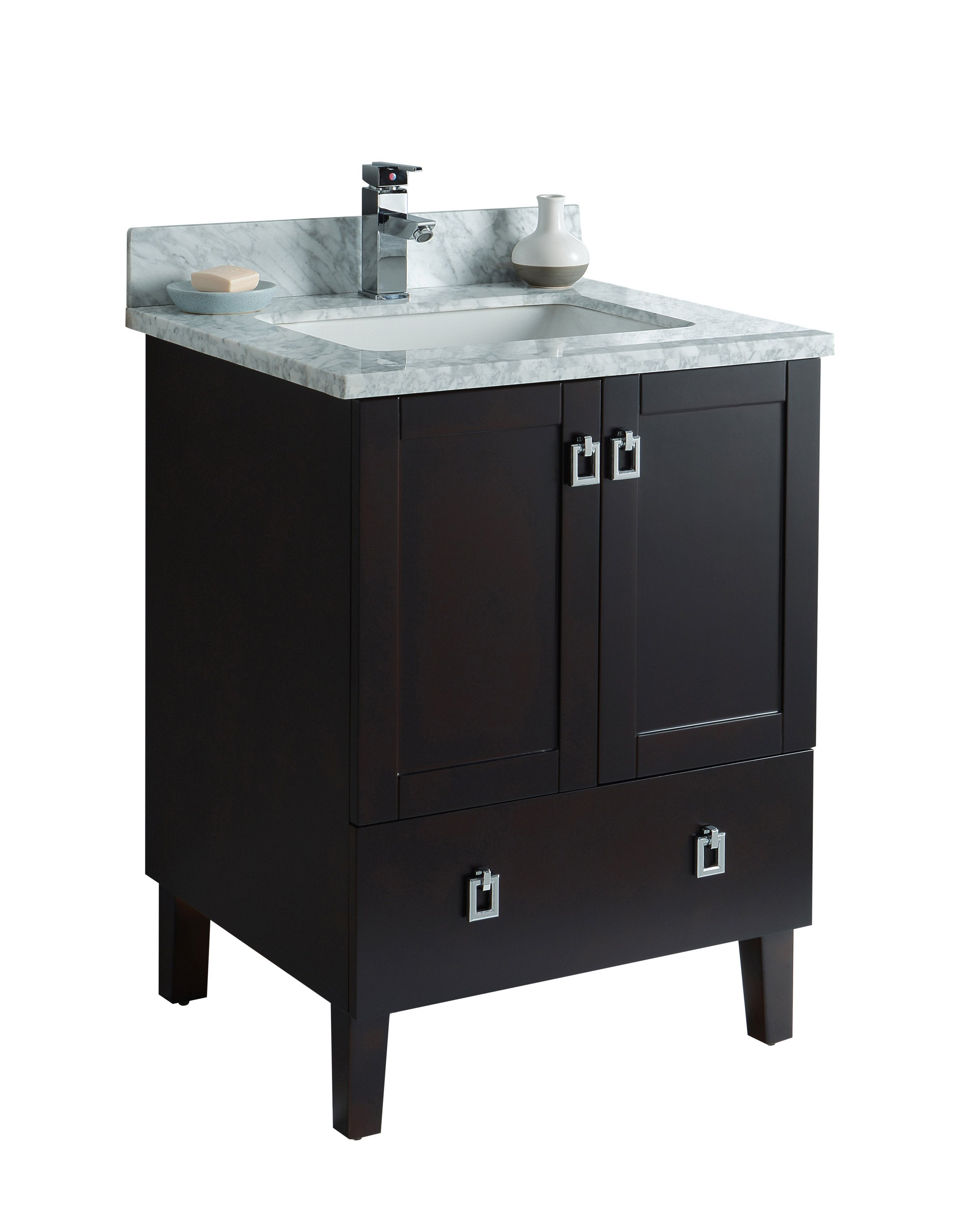 ... 24 Inch Bathroom Cabinet With Marble Countertop ...
