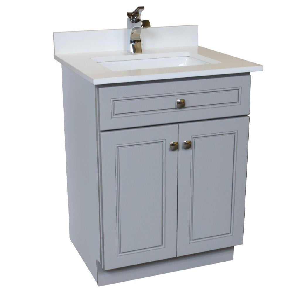 24 vanity with sink. 24 inch all wood vanity in grey with sink o