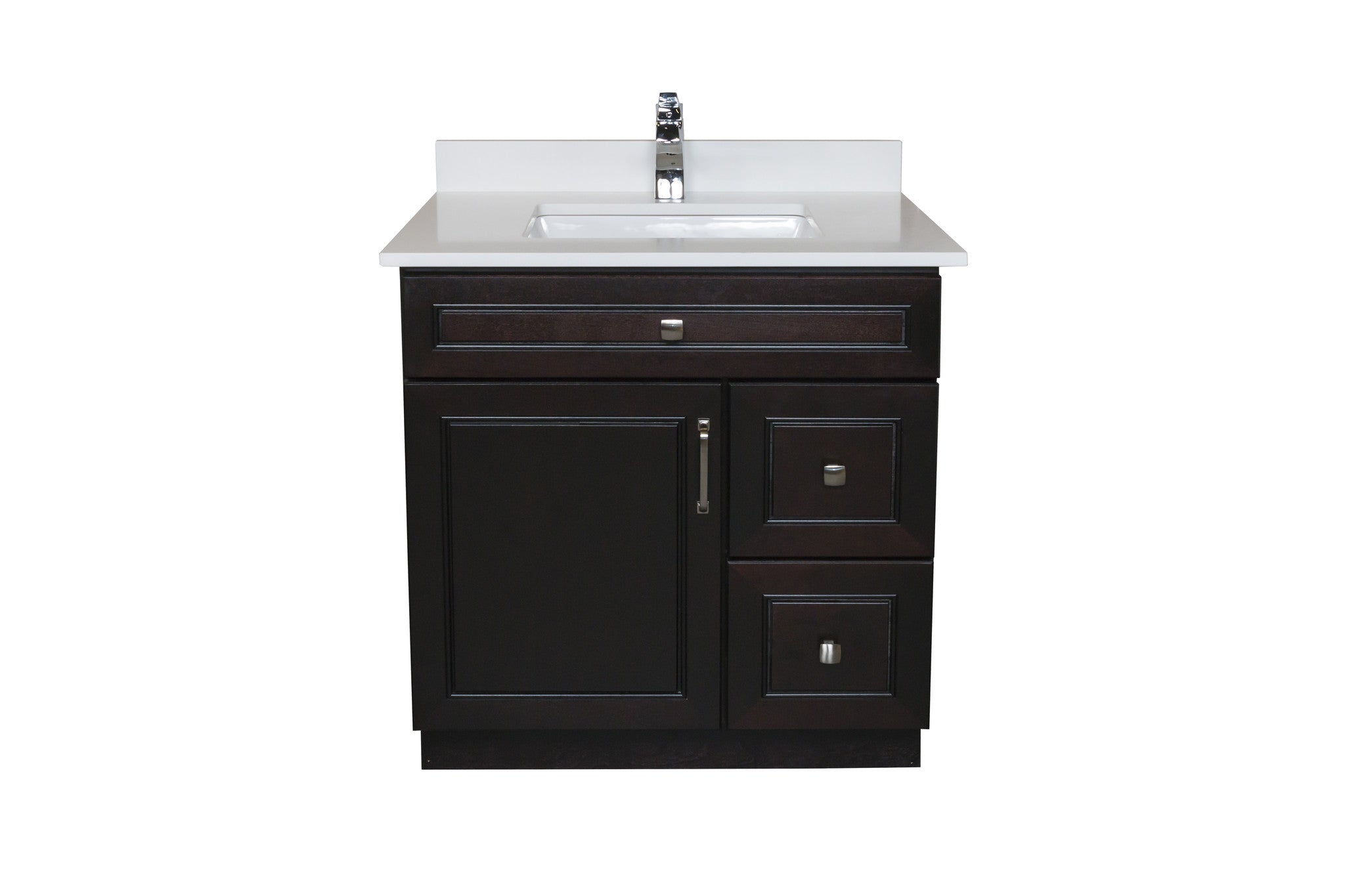 30 ̎ Maple Wood Bathroom Vanity in Espresso - Combo – Broadway Vanities