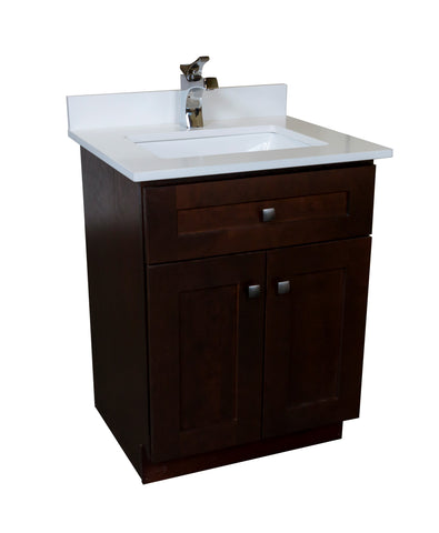 24-inch Dark Stain Bathroom Cabinet