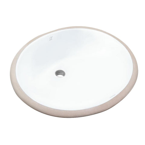 "Pearl 19-1/4"" Oval Undermount Bathroom Sink - White - KASU - C GBC1714 - Oval"