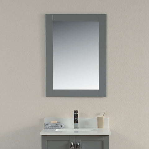"22"" Grey Rock Bathroom Mirror"