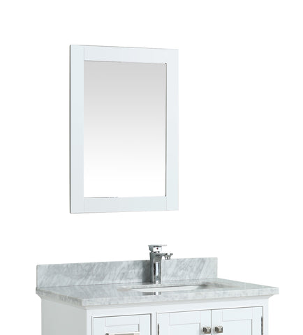 "27"" Toga White Bathroom Mirror"
