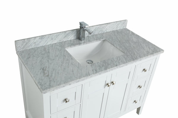 Keatley Bathroom Vanity in Toga White - 48 Inch [Currently Out of ...