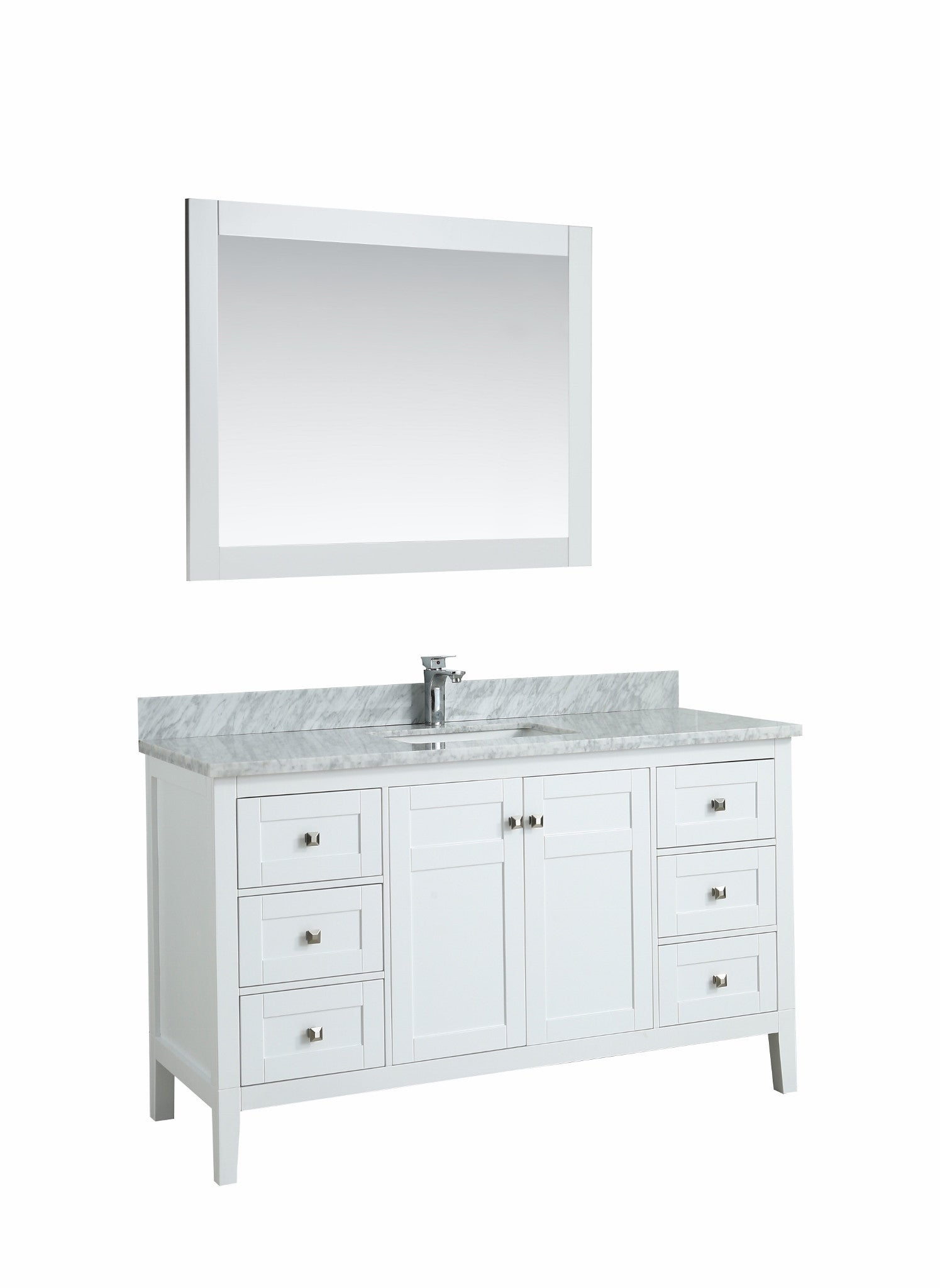 Keatley Bathroom Vanity in Toga White - 60 Inch – Broadway Vanities