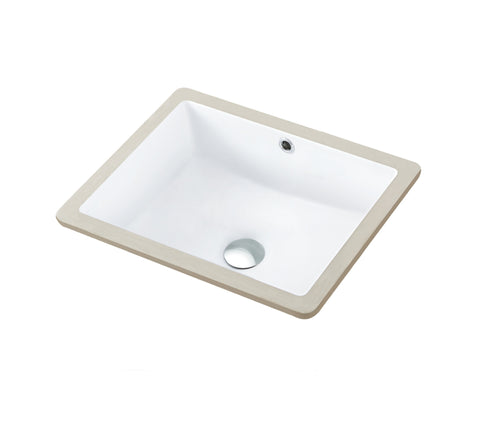 18 Inch Modern Bathroom Sink with Overflow