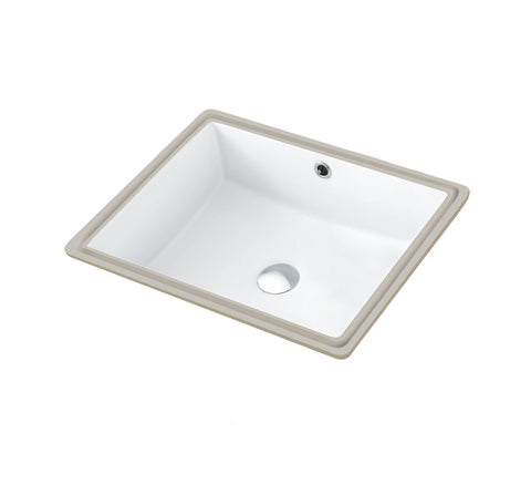 19-1/2 Inch Modern Bathroom Sink with Overflow