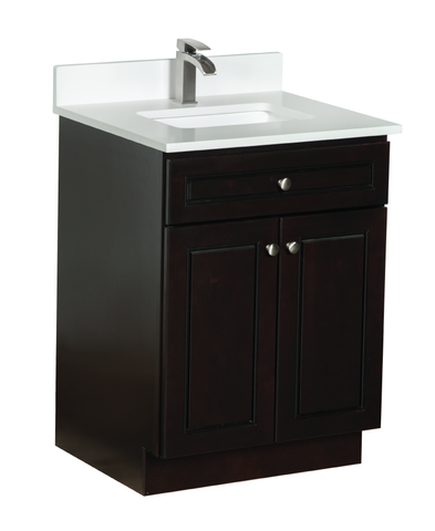 24 inch Bathroom Cabinet with White Quartz Countertop