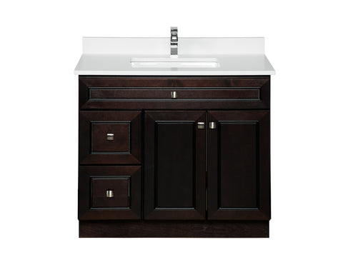 36 inch Espresso Bathroom Cabinet with Doors on the Right