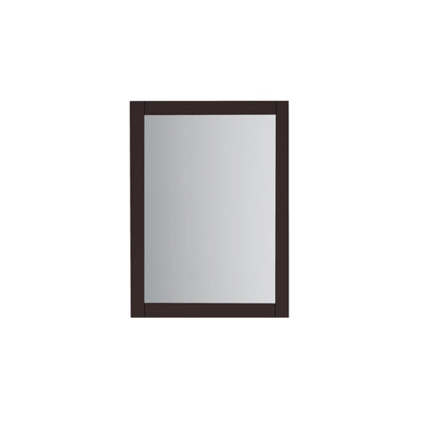 "22.5"" Wood Frame Bathroom Mirror in Espresso"