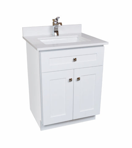 24 Bathroom Vanity in White