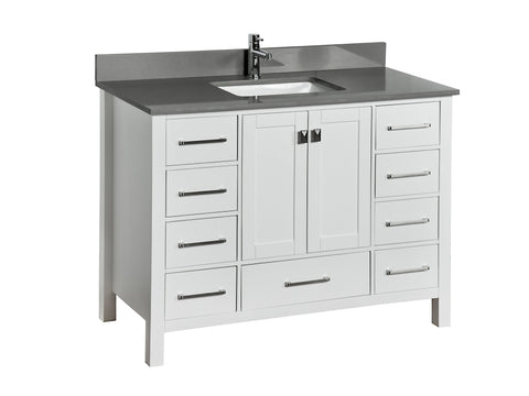 Ada Bathroom Vanity in White - 48 Inch