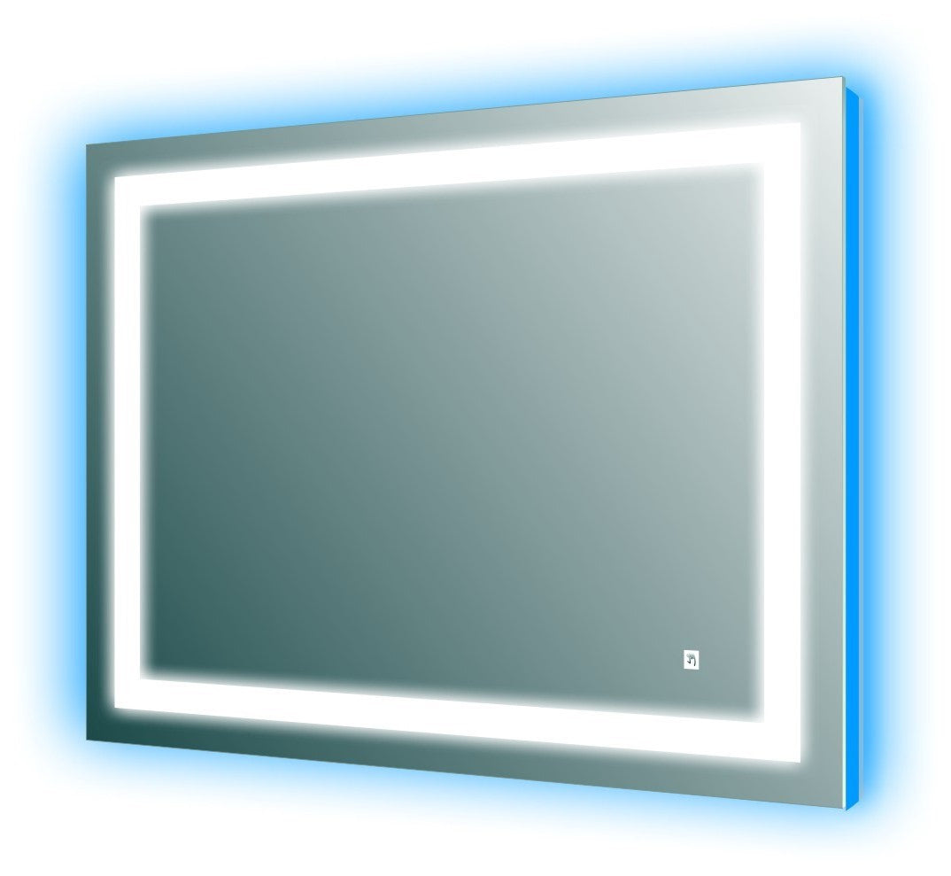 Niel 44 Quot Led Wall Mirror With Touch Sensor Broadway Vanities
