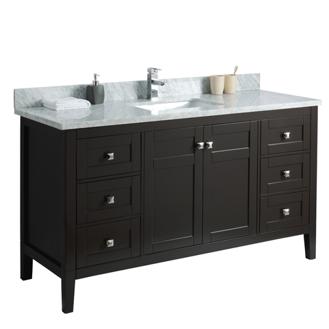 60 Inch Bathroom Cabinet with Top
